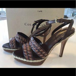 NIB Cole Haan Vanessa Air Sandal Chestnut Size 9